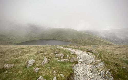 Over the top and down to Angle Tarn